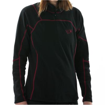 Mountain Hardwear Microgrid Zip T Top- Women's