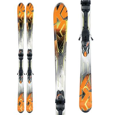 K2 A.M.P. Impact Skis + Marker 11.0 TC Bindings 2012