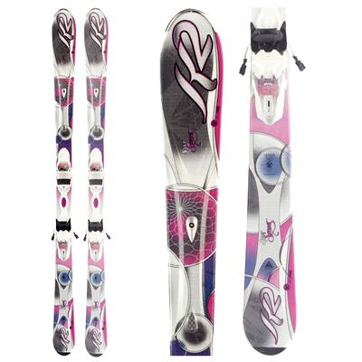K2 SuperSweet Skis + Marker ER3 10.0 Bindings - Women's 2012