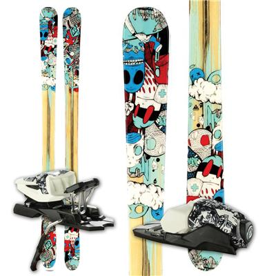 K2 Press Skis + 10.0 Free Bindings  2012