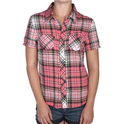 Volcom Four Birds Short Sleeve Button Down Shirt - Women's