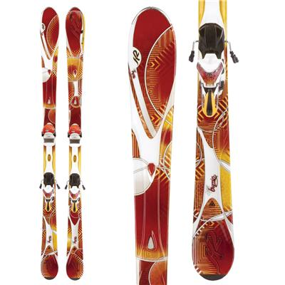 K2 SuperBurnin Skis + Marker ERS 11.0 TC Bindings - Women's 2012