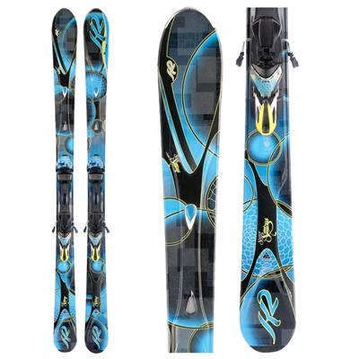 K2 SuperStitious Skis + Marker ERS 11.0 TC Bindings - Women's  2012