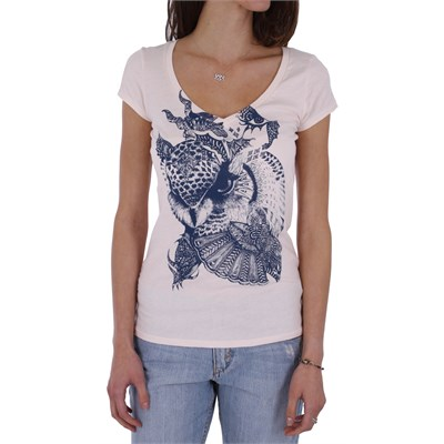 Volcom Skullux F.A. Scoop V Neck T Shirt - Women's