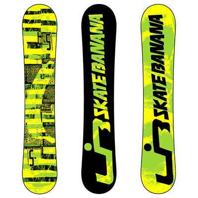 Lib Tech Skate Banana BTX (Yellow/Green) Wide Snowboard 2012