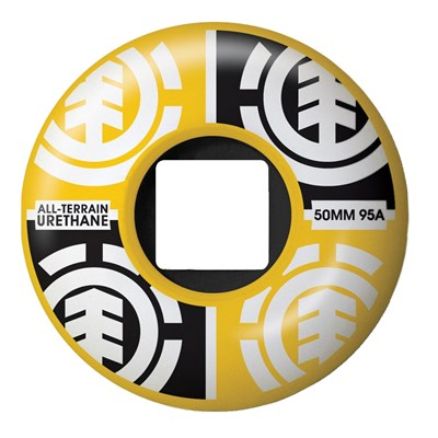 Element Quadrant Yellow Skateboard Wheels