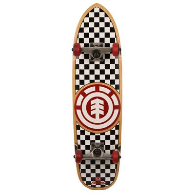 Element Checkered Dagger Cruiser Longboard Complete