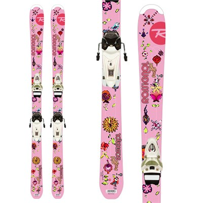 Rossignol Fun Girl Skis + Saphir 70 Bindings - Youth 2012