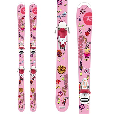 Rossignol Fun Girl Skis + Saphir 45 Bindings - Youth 2012