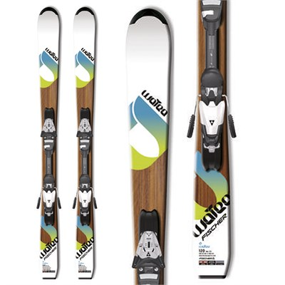 Fischer Watea Jr Skis + FJ7 Jr RF Bindings - Youth 2012