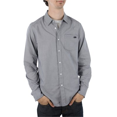 RVCA Mini Blue Long Sleeve Button Down