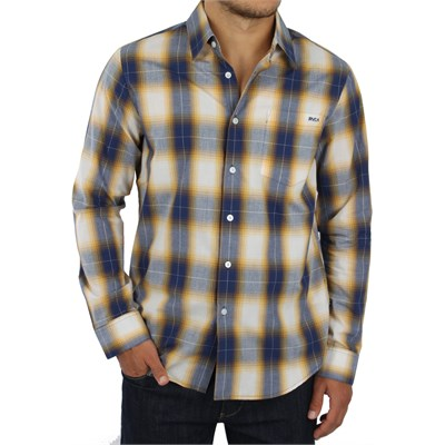 RVCA Woody Plaid Button Down Shirt