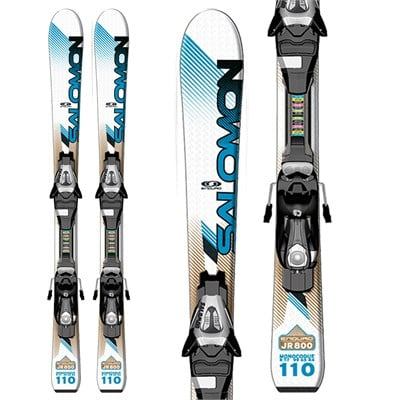 Salomon Enduro 800 Jr Skis + C5 Bindings - Youth 2012