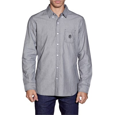 Obey Clothing Staple Stripe Monogram Button Down Shirt