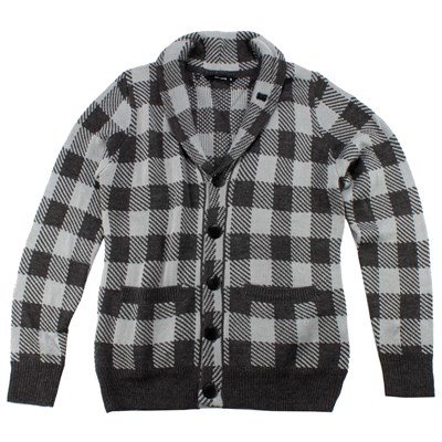 Makia Jack Check Cardigan Sweater