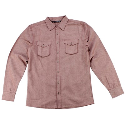 Makia Herringbone Button Down Shirt