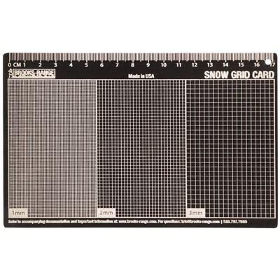 Brooks-Range Snow Grid Card