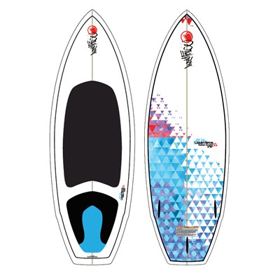 Liquid Force Custom Thruster Wakesurf Board 2012