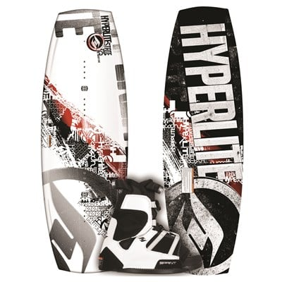 Hyperlite State Wakeboard + Sprint Wakeboard Bindings - Youth - Boy's 2012