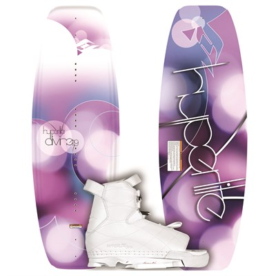 Hyperlite Divine Wakeboard + Jinx Wakeboard Bindings - Youth - Girl's 2012