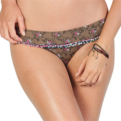 Volcom Flower Affair Ruffle Waist Full Bikini Bottom - Women's