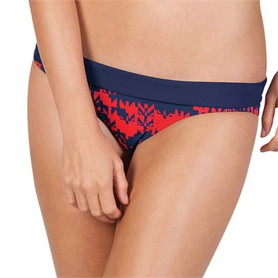 Volcom Flip The Bird Banded Full Bikini Bottom - Women's