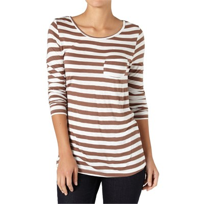 Quiksilver Bay Stripe Long Sleeve Top - Women's