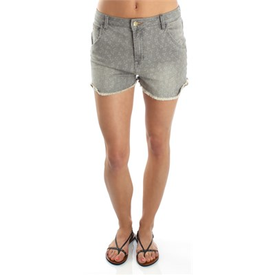 Quiksilver Hannah's Vintage Grey Birds Shorts - Women's