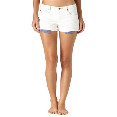 Quiksilver Breezer Easel White Shorts - Women's