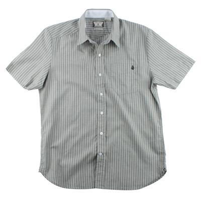 Volcom Ex Factor Stripe Short Sleeve Button Down Shirt