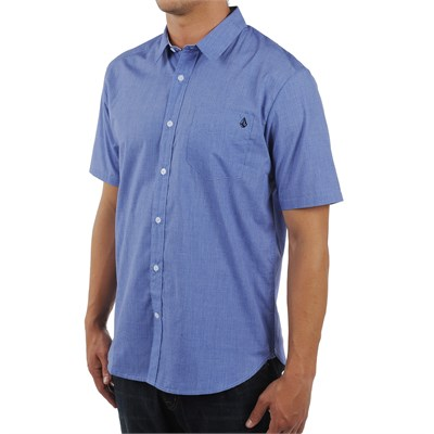 Volcom Ex Factor Solid Short Sleeve Button Down Shirt