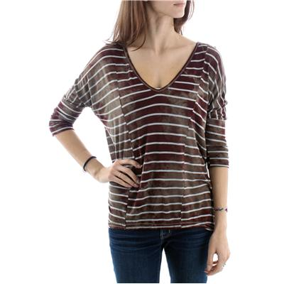 Billabong Gravel V Neck Long Sleeve Top - Women's