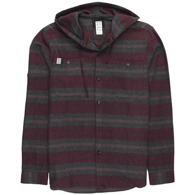 Billabong Ventura Hooded Flannel Button Down Shirt