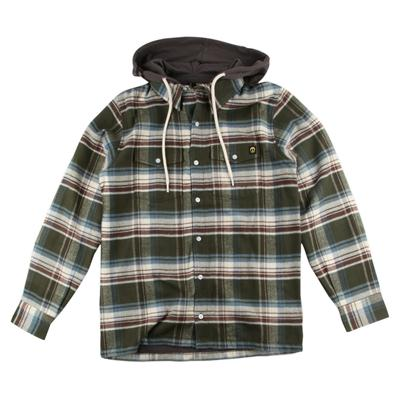 Gnarly Flanyard 2 Hooded Button Down Shirt