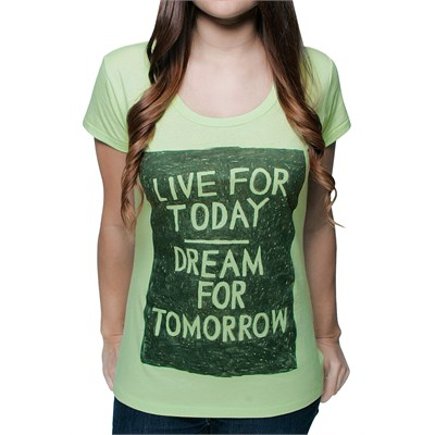 Glamour Kills Live For Today Scoop Neck T Shirt - Women's