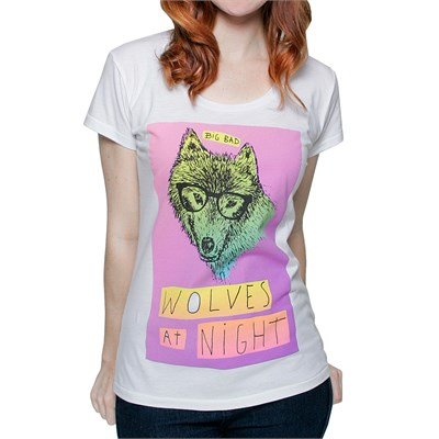 Glamour Kills Wolves At Night Scoop Neck T Shirt - Women's
