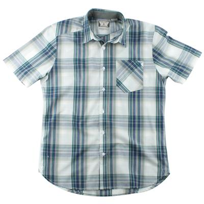 Volcom Ex Factor Plaid Short Sleeve Button Down Shirt