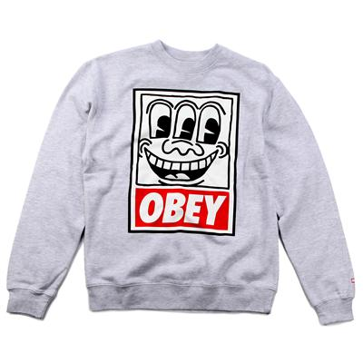 Obey Clothing Haring Eyes Crew Sweatshirt