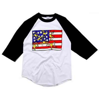 Obey Clothing Haring Flag Raglan Shirt
