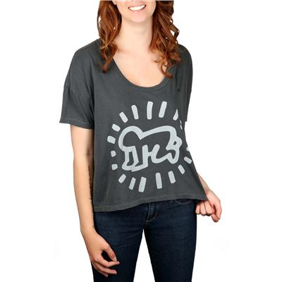 Obey Clothing Keith Haring Baby Vintage Crop T Shirt - Women's