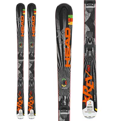 Head REV 90 Skis + LX 12 Wide 88 Bindings 2013