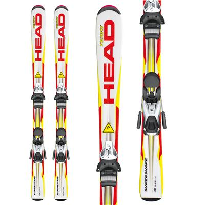 Head Supershape Team Skis + SX 7.5 AC Bindings - Youth 2013