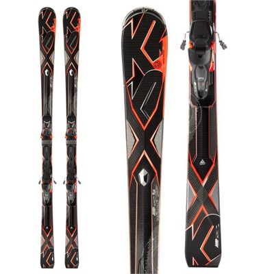 K2 A.M.P. Bolt Skis + Marker MX14.0 Bindings 2013