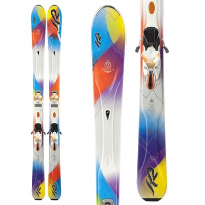 K2 SuperStitious Skis + Marker ERS 11.0 TC Bindings - Women's 2013