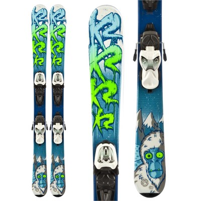 K2 Indy Skis + Fastrak2 7 Bindings - Boy's 2014