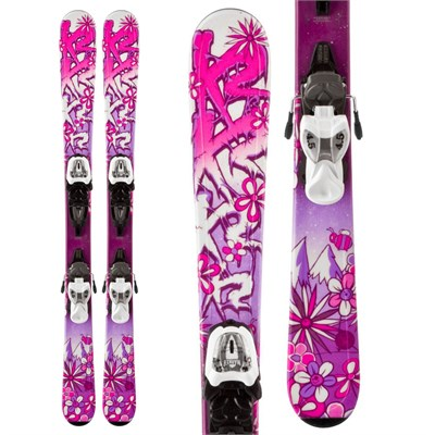 K2 Luv Bug Skis + Fastrak2 4.5 Bindings - Girl's 2014