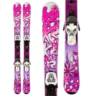 K2 Luv Bug Skis + Fastrak2 7 Bindings - Girl's 2014