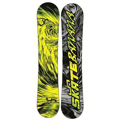 Lib Tech Skate Banana BTX (Yellow/Green) Narrow Snowboard 2013