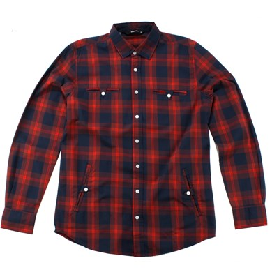 Makia Combination Button Down Shirt