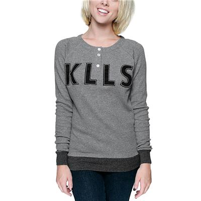 Glamour Kills Tried And True Henley Thermal Top - Women's